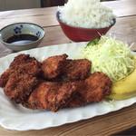 黒川食堂 - 連れがたのんだ、若鶏定食。