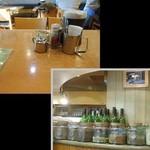 Kikuya Curry - 店内はこんなカンジ。香辛料の瓶が目を引きます