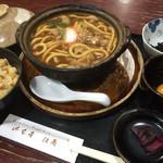 山本屋総本家 - 料理写真:煮込みうどん定食1000円(五目ご飯選択)