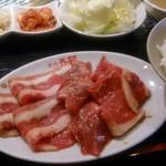 焼肉五苑 八幡店 - 選べる定食 三品のロース・ミスジ・あぶりカルビ