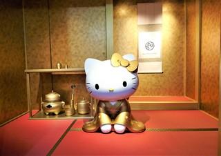 はろうきてぃ茶寮  - 豊臣秀吉の『黄金の茶室』をキティちゃんで再現!!利休仕様の黄金の茶器も展示してある~♪( ^o^)ノ