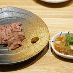 洋食 おがた - 尾崎牛 薄切り炙り ポン酢仕立て
