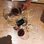 CAFE&STORE bebenoosouzai - ▲センターのカードはワインサーバー専用のプリペイドカードは3000円分。
