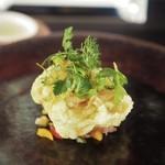 Felicelina - サクサクな根室産鱈白子のセモリナ粉フリット コリコリ野菜のマリネを添えて