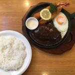 洋食厨房 Country House - 海老フライ & デミグラスハンバーグ