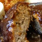 洋食厨房 Country House - 肉汁溢れる 丸っとした ハンバーグ