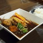 札幌スープカレーアンティーク店・松本うどん店 - 料理写真:鶏とジャガイモのスープカレー
