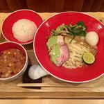 Japanese Soba Noodles 蔦 - 「味噌つけSoba~松茸の香り~」1200円+味玉+「ご飯」150円