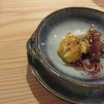 夕食とお酒 あまおと - 酒肴1 ホタルイカ酢味噌