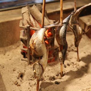 伝統的な調理法!!原始焼きをどうぞ