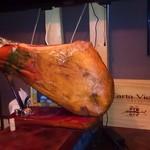 旨いもん屋 ごち - 料理写真:ハモン・セラーノの原木です!ここから切り出します!