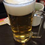 なか卯 船橋湊町店 - 小さい生ビール(^∇^)