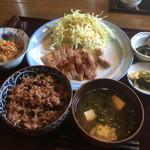 まんま家 - 日替り定食1000円 酵素玄米美味しい!
