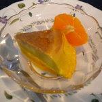れんが屋 - 江之浦デザート(かぼちゃプリンとオレンジ)