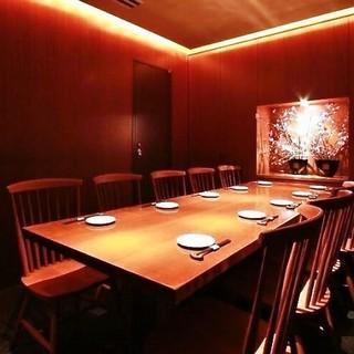 人気個室です。ご予約はお早めに!
