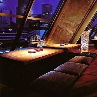 新宿ディナーを窓際席でごゆっくりとお過ごしください♪