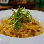 トラットリア ラパーチェ - 特撰生ウニのクリームソース(タリアテッレ)