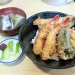 魚のてっちゃ - ミニ天丼 972円