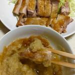 珍味亭 - 自炊でチキンソテーを柚子胡椒おろしポン酢で頂きました