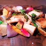 62923757 - 「鎌倉野菜とチキンのラクレット」(1,500円)