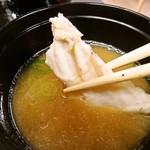 天晴水産 ぽっぽ家 - 味噌汁(あら入り)