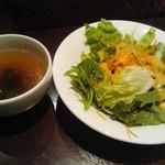 62924468 - 一回目の(笑)サラダとスープ
