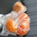 知念商会 - ササミ揚げ、揚げ玉子、おかかおにぎり(計250円)