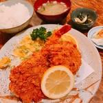 かつれつ庵 - エビヒレ定食