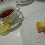 資生堂パーラー - レモンティーとチーズケーキのセット