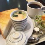 茶坊主 - 料理写真:ブレンドコーヒー380円と小倉トーストのモーニング