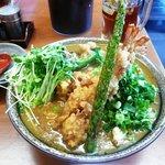 大和 - 料理写真:海老天カレーうどん