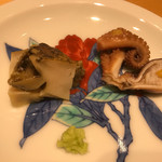 鮨 しお津 - 蒸し鮑と飯蛸
