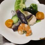 九兵衛旅館 - 地野菜サラダ