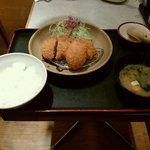とんかつ ながた園 - 日替り定食 一口カツ、エッグポテトコロッケ、カレー鶏ミンチカツ 780円