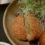 とんかつ ながた園 - カレー鶏ミンチカツ