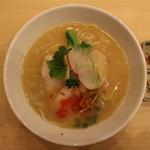 銀座 篝 - 鶏白湯SOBA(950円、真上から)