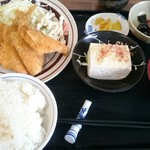 やま - アジフライ定食  750円