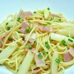 ランチ&バー 花菜 - ホワイトアスパラとベーコンのペペロンチーノ