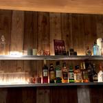 ロイヤルガーデンカフェ - バーカウンターの棚