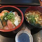 海鮮や 活活丸 - 海鮮づけ丼セット@750円