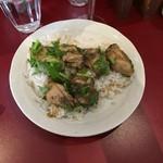 sync - 牡蠣とクレソンカレー、ちょいパクチー(1,500円+100円)まずは牡蠣を並べたら6個