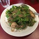 sync - 牡蠣とクレソンカレー、ちょいパクチー(1,500円+100円)HOTレベルゼロ