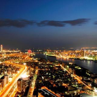 地上51階200メートルからの眺望は大阪市内屈指