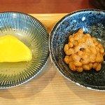 マンプク - 中華・和・洋定食 マンプク @豊洲 定食に付く納豆と沢庵