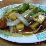 中国飯店紀淡 - 酢豚の小盛り