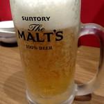 らーめん蓮 - 生ビール
