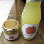 アートキッチン神戸エピスリー - 長野県産りんごを使用した生搾りりんごジュース 180ml と砂糖不使用の低糖質りんごジャム 90g