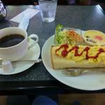 こーひー ほほほ - 料理写真:ブレンドコーヒーとモーニングサービス(タマゴトーストのセット)