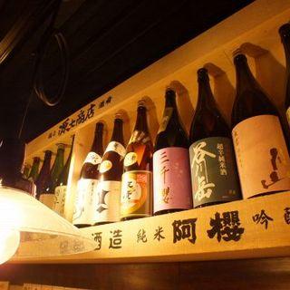 酒屋が選ぶ全国の【日本酒】!19時までは早割で1合300円♪