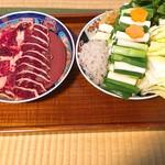 鳥新 - 鴨肉と長浜の地野菜(^o^)